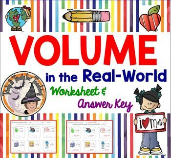 VOLUME in the Real World Worksheet with Answer KEY