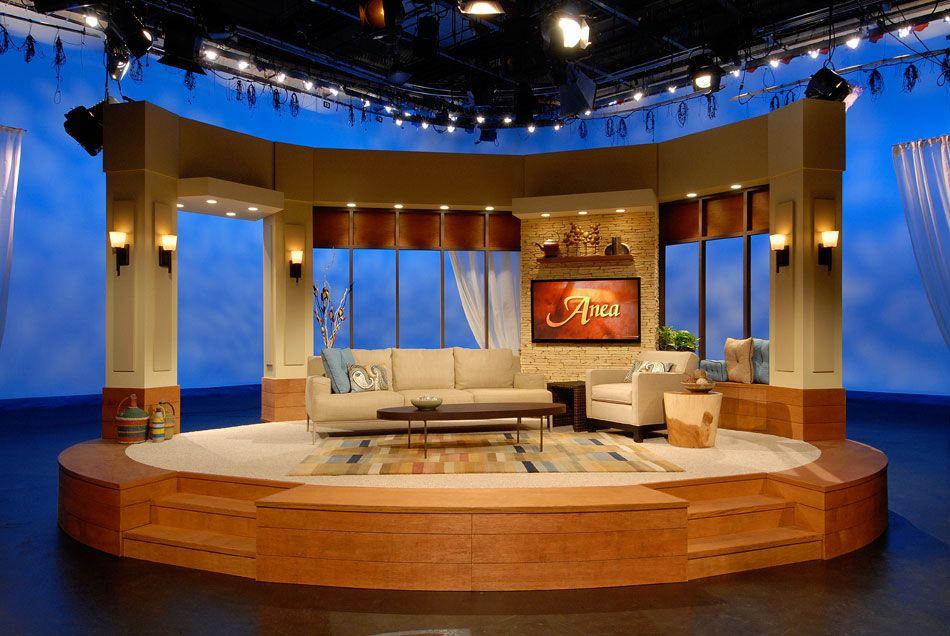 tv talk shows set - Google Search | APP | Tv set design ...