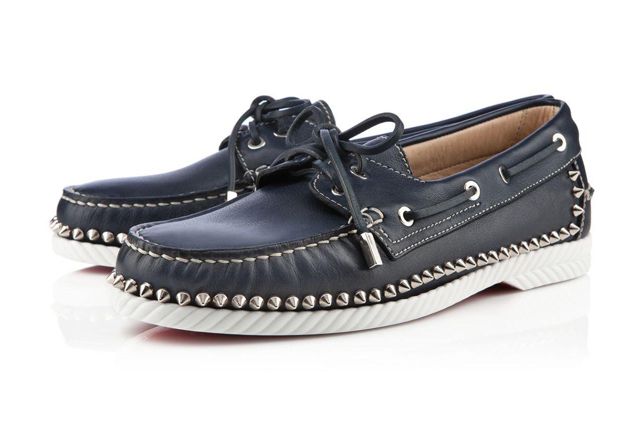 Christian Louboutin Zapato de barco verde
