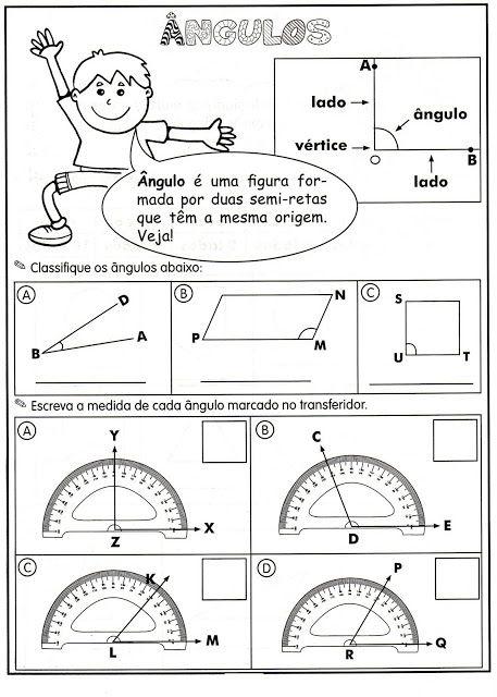 doutor matemático exercícios de Ângulos agudo obtuso reto raso