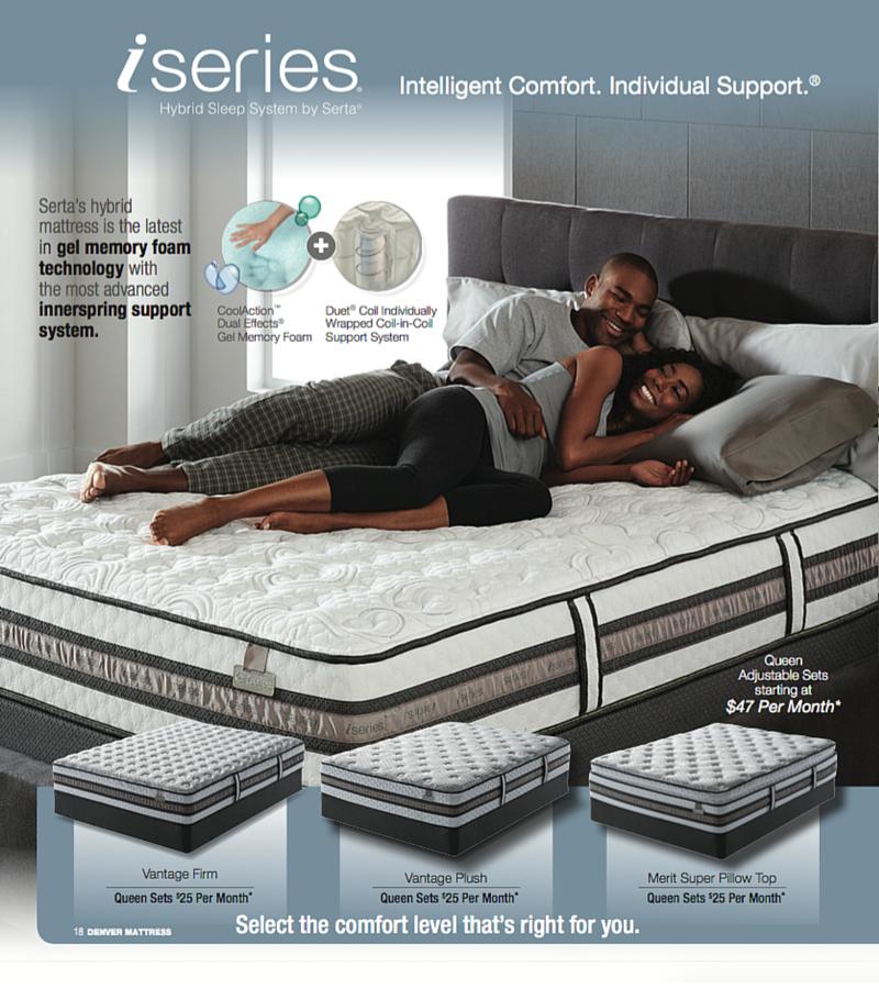 Shop The Iseries Hybrid Sleep System By Serta At Denver Mattress