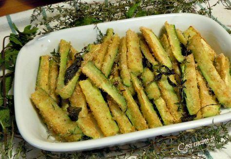 Zucchine croccanti al forno ricetta ricette cucinare for Cucinare vegetariano