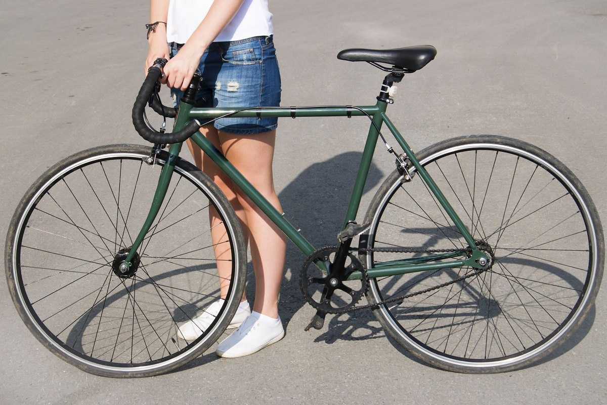 Rider with sports bicycle   Fixed Gear   Pinterest   Bicycling and ...