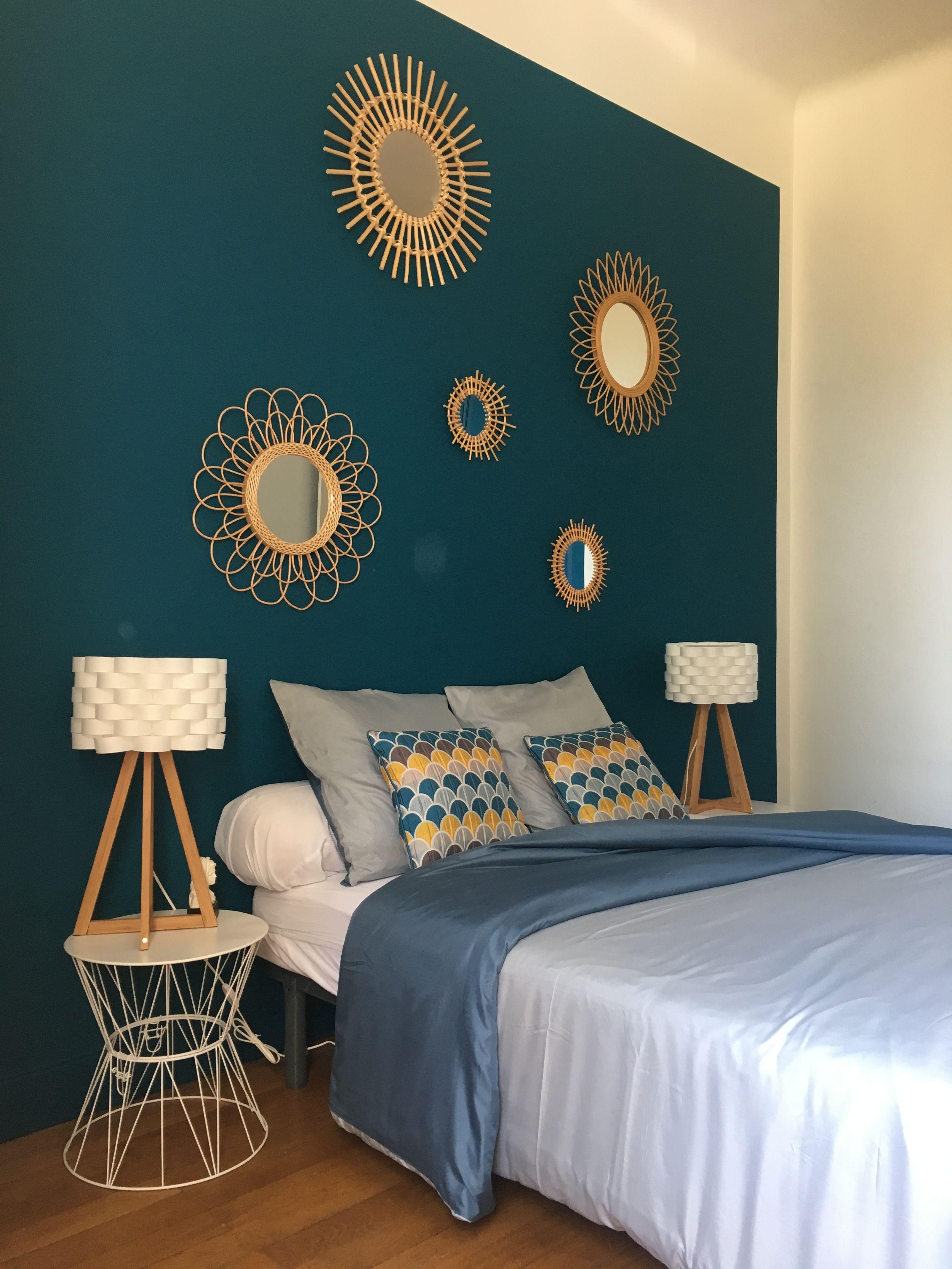 pingl par sophie d 39 abrigeon sur d coration chambre bleu. Black Bedroom Furniture Sets. Home Design Ideas