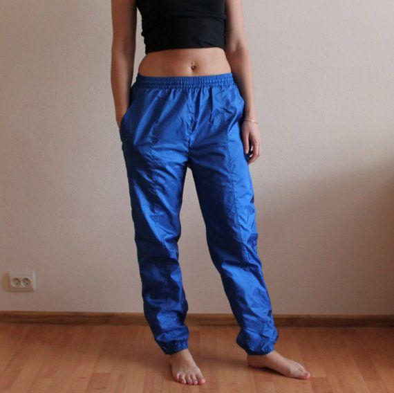 Vintage 80s 90s Track Pants Women/'s Luhta Sport Pants Windbreaker Pants Lining Sport Pants Gym Workout Set Hipster Sporty Athletic