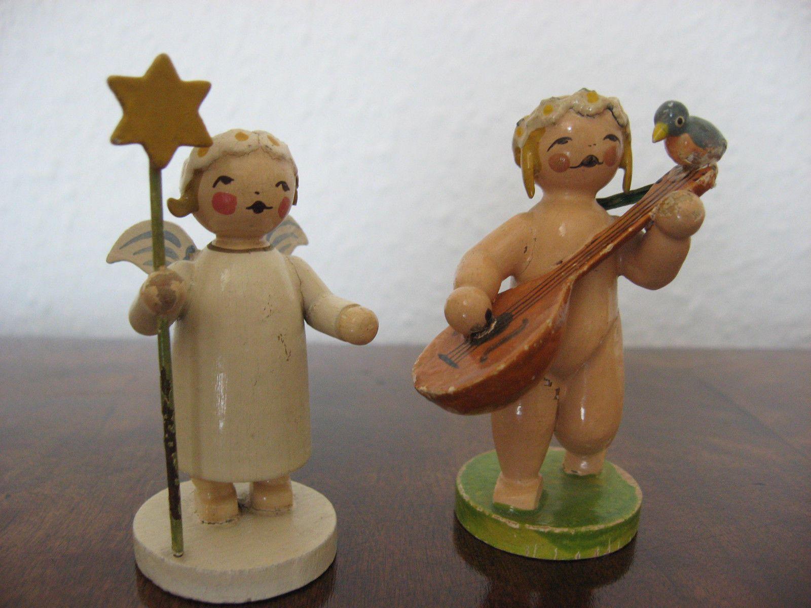 Wendt Amp Kuhn 2 Alte Engel Erzgebirge Vorkrieg Antiquitaten Amp Kunst Volkskunst Erzgebirge E Erzgebirge Traditioneller Weihnachtsschmuck Wendt Kuhn