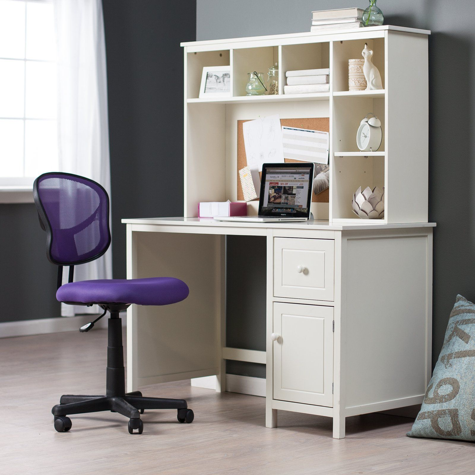 Have to have it. Piper Desk with Optional Hutch Set - Vanilla ...