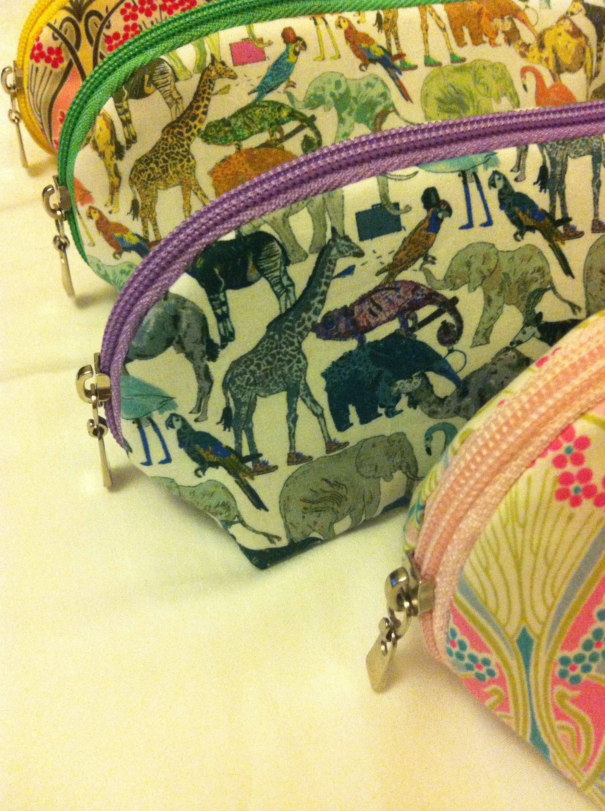 Cosmetics bags in original Liberty of London fabrics. Ianthe and Queue for the zoo. melbourneaccessories.mysimplestore.com. Twitter: @MarcyMelbourne.  Instagram: melbourne.accessories