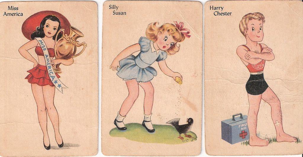 Flickr card games vintage children cards