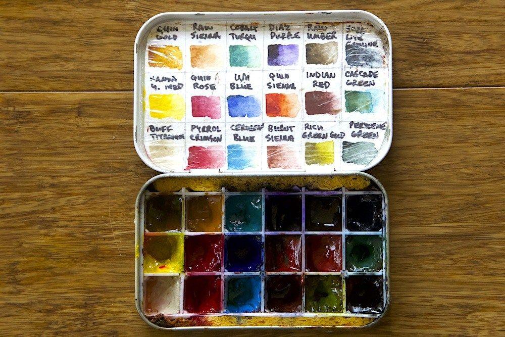 A Better Diy Altoids Palette Watercolor Pallet Watercolor