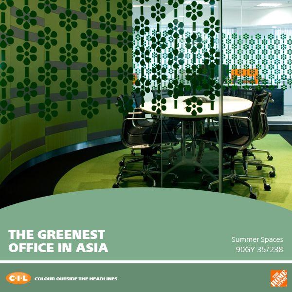 Do you think about more than just colour when choosing paint for your walls? Read about the greenest office space in Asia in today's colour story! | Pensez-vous à votre consommation d'énergie lorsque vous choisissez une couleur de peinture? Découvrez le bureau le plus vert d'Asie dans notre manchette colorée du jour!