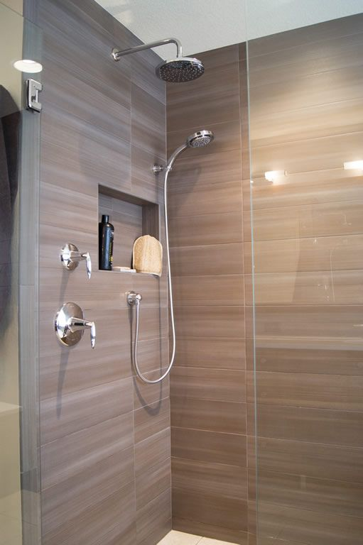 highlands ranch modern master bathroom remodel by da vinci remodeling - Modern Bathroom Remodel
