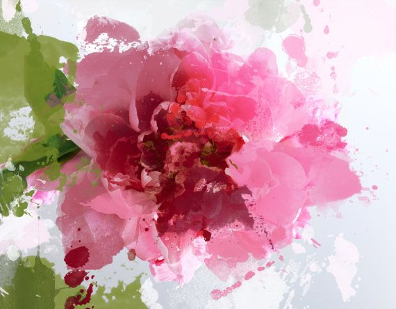 Sparkle Bright Extra Large Pink Fine Art Canvas Floral Print Up To 72 Quot Floral Bright Contemporary Wal Pink Abstract Art Floral Painting Abstract Flowers