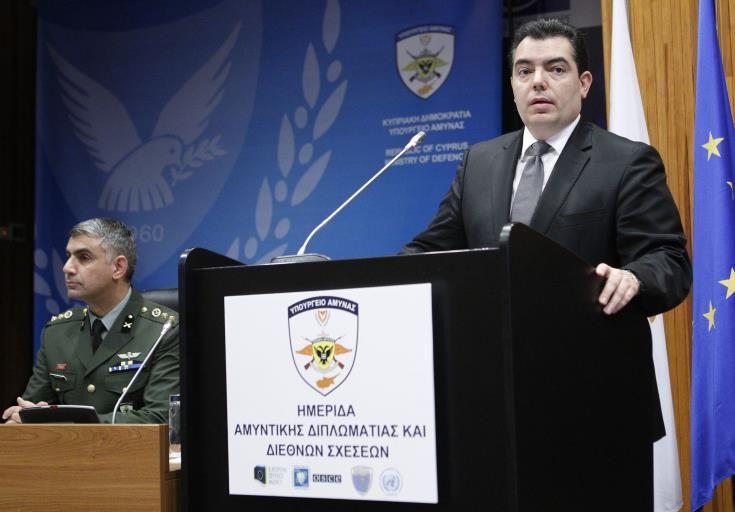 Υπουργός Άμυνας: Η Κύπρος, με τη λύση του Κυπριακού, θα μπορεί να αναβαθμίσει το ρόλο της
