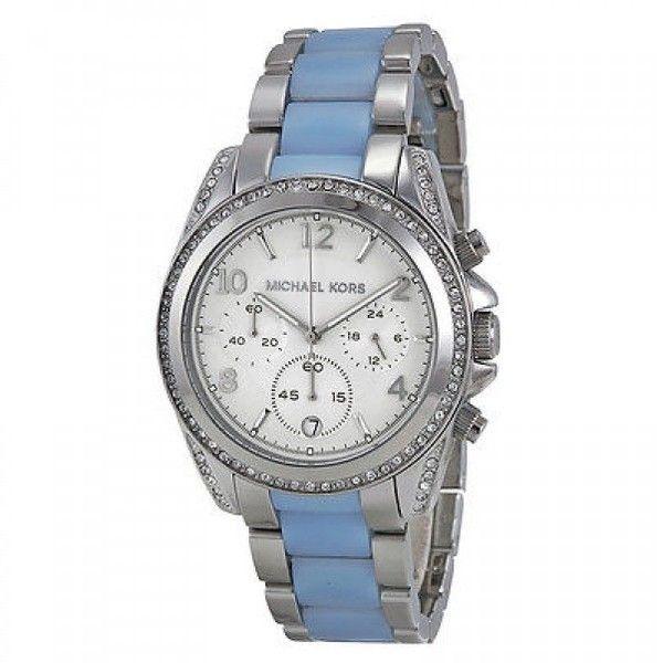 Pre-owned Michael Kors MK6137 39mm Blair Silver Chronograph Watch ( 178) ❤  liked · Michael Kors Kello bd05a370d2