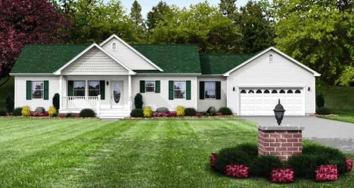 1980 sq ft happy valley modular boys 39 rooms face either - Modular homes with basement ...