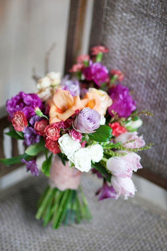 tropical bouquet of roses, carnations, tulips, peonies and lilies by ...