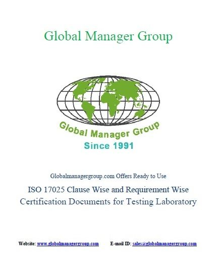 Iso  Certification Documents For Clause Wise Requirements Of