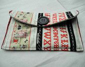 needle-crafty patterned case for phone, cards, coins and other small items