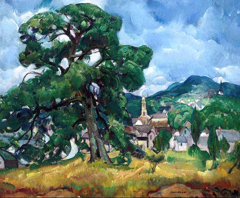 Leon Kroll (1984-1974), Old oak, Camden, 1916