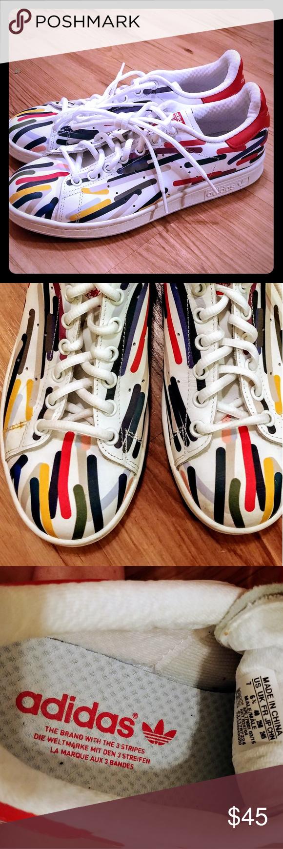 nuove adidas stan smith è dipinto strisce m7 w9 pinterest vernice