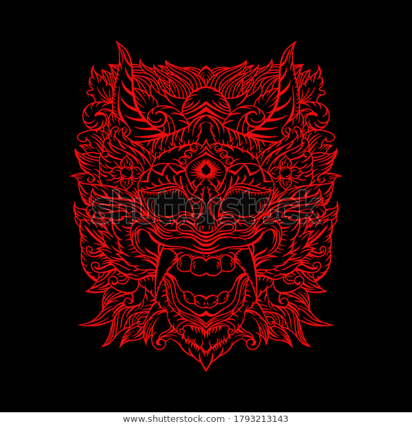 find line vector illustration barong bali stock images in hd and millions of other royalty free stock photos illu in 2020 barong bali vector illustration illustration pinterest