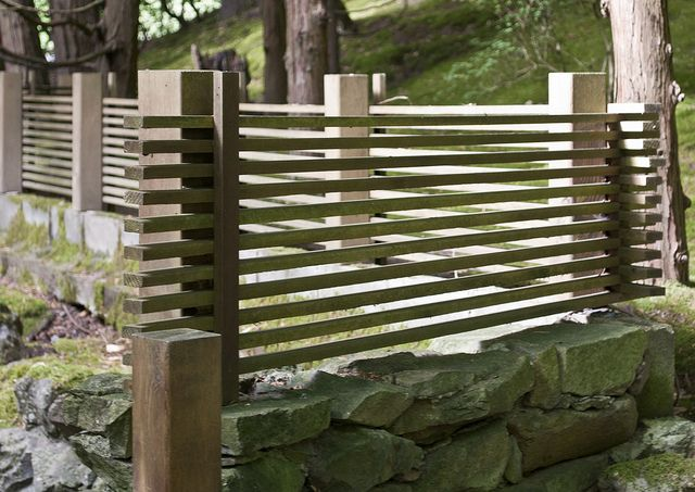 Japanese Garden Fence Design bamboo and cedar screening fence Find This Pin And More On Fence Ideas Portland Japanese Garden