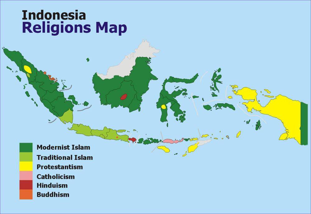 religions of indonesia infographic - Google Search etc Pinterest - new google world map printable