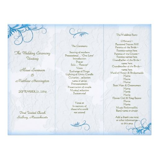 Wedding programs templates tri fold wwwpixsharkcom images galleries with a bite for Free printable church program template