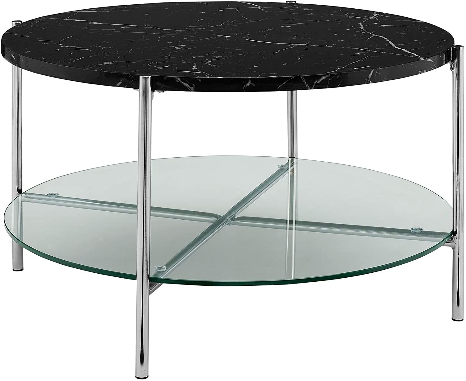 Modern Metal Round Coffee Accent Table Living Room 32 Inch Black Marble Living Room Accent Tables Coffee Table Faux Marble Coffee Table [ 1228 x 1500 Pixel ]