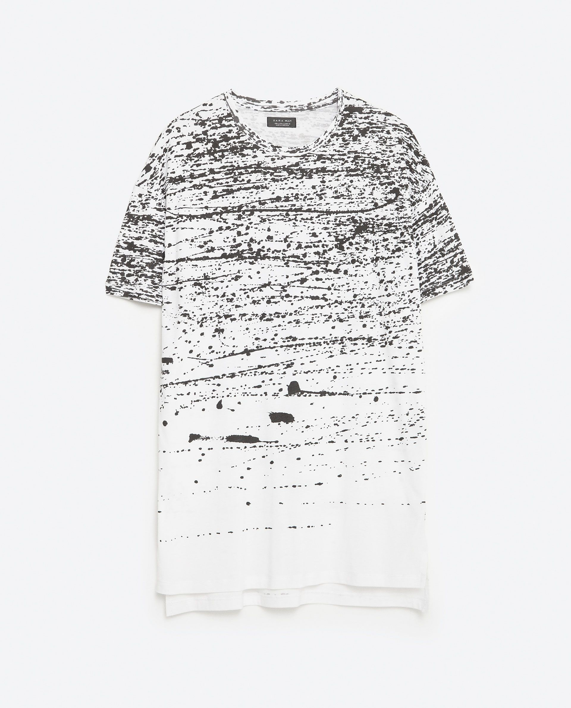 Imagen 8 de camiseta manchas pintura de zara ideas - Pintura para camisetas ...