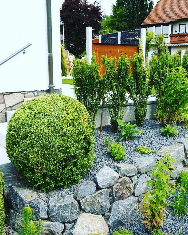 Garten Mit Sitzecke Sichtschutz Einfriedung 2 2 Details