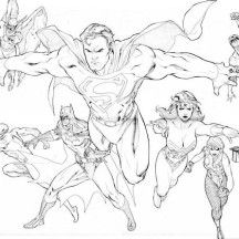 The Brave And Bolt Justice League Coloring Page