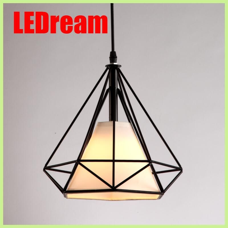 Free with led bulb colorful birdcage pendant lights iron retro light free with led bulb colorful birdcage pendant lights iron retro light oft pyramid lamp metal cage aloadofball Image collections