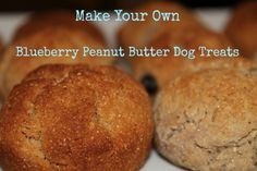 How to Make Your Own Blueberry Peanut Butter Dog Treats for National Peanut Butter Day  DIY Dog Treats Super easy your dogs will go crazy for these treats.