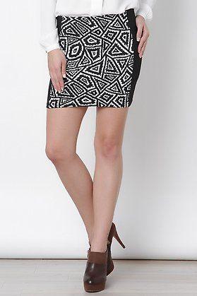 Falda Negro Faldas Elarmariodelatele Bicolor Recta Faldas Y RxpROfHqw 9f8902d2f58b
