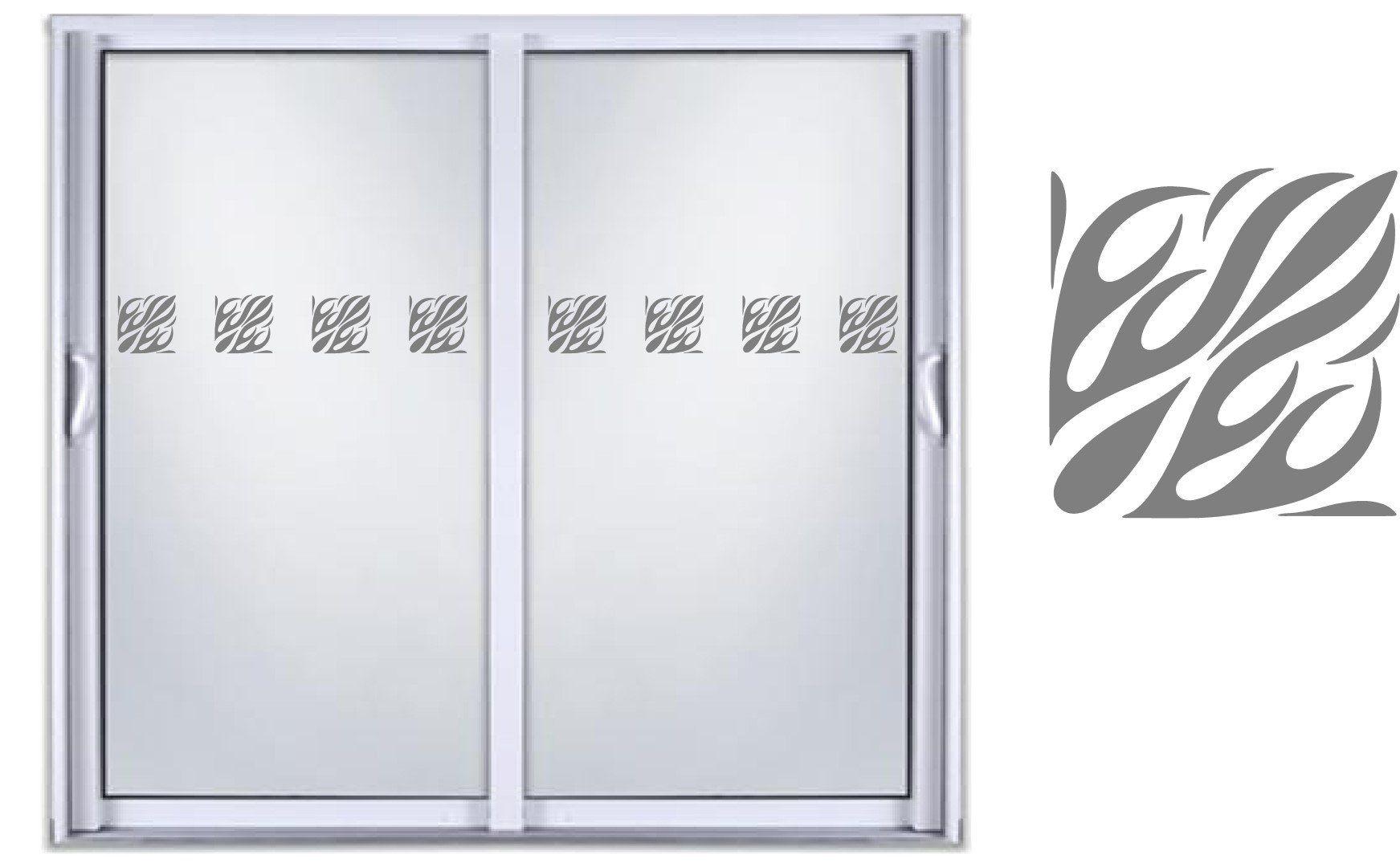 Safety diy etched glass vinyl privacy film glass door decals sliding door window decal stickers 05