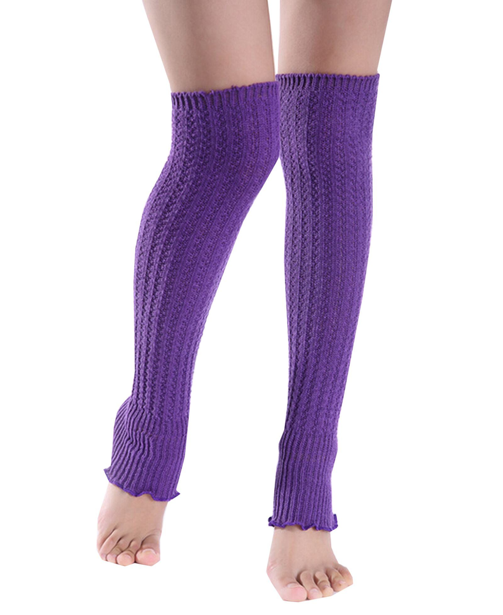 Xinliya Knit Cable Stocking Crochet Leg Warmers Boot Cover Kneepad Socks. Material:knitting. Size: length 20 inches, free size fit all. 100 % Brand New and Elastic. Package: 1 Pair of leg warmers. Wonderful to wear with boots, booties, over stockingss,kinny jeans, leggings, knee high boots, rubber boots or even heels and flats.