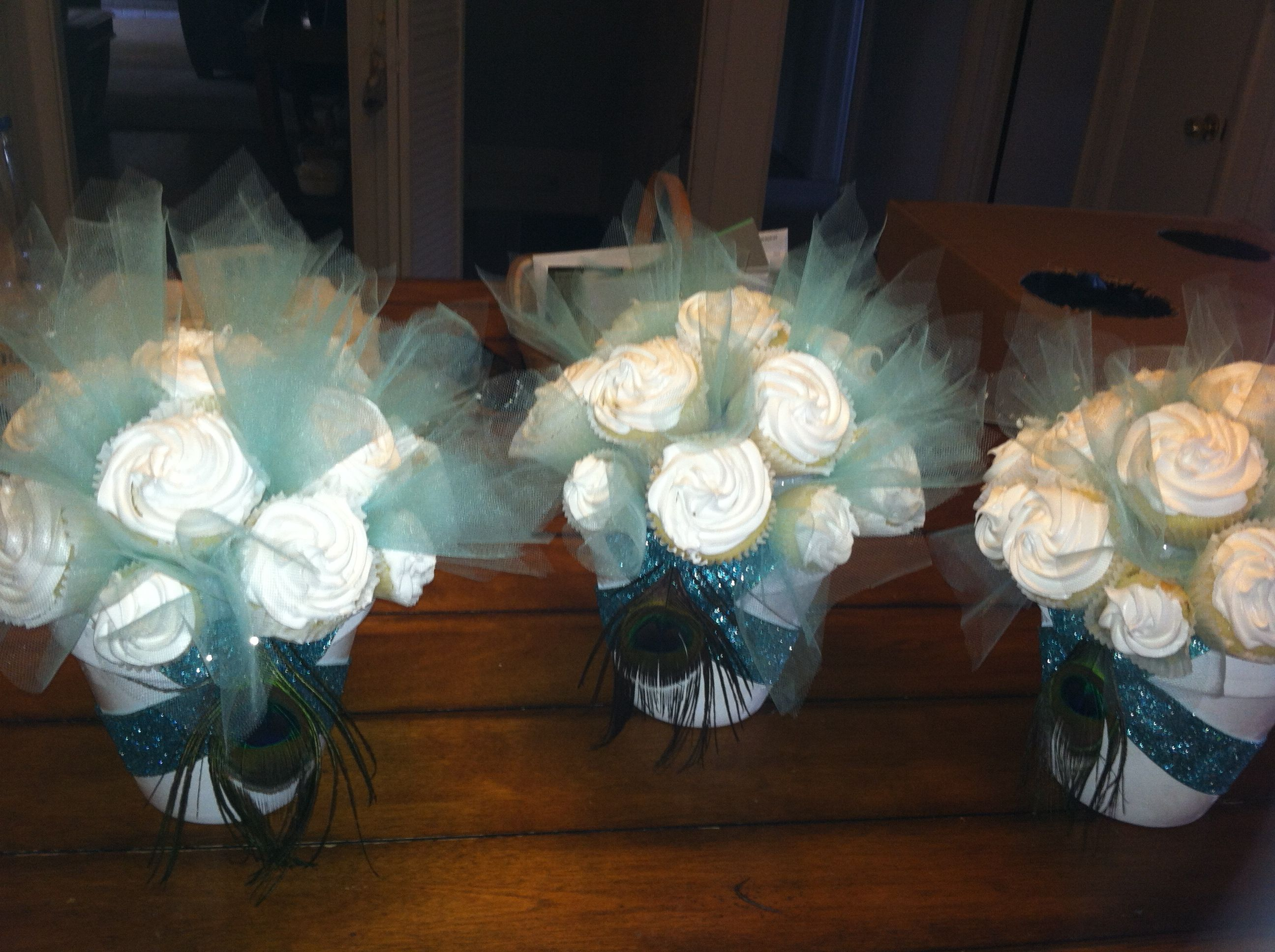 Cupcake boquet. Can be customized to your own colors and wants!