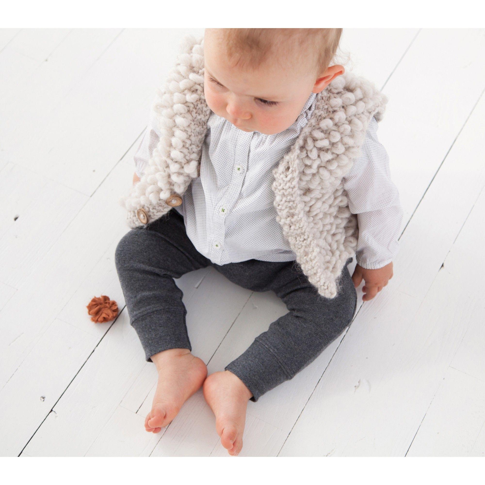 Préférence Gilet sans manche bébé style berger beige en laine et alpaga  VT16