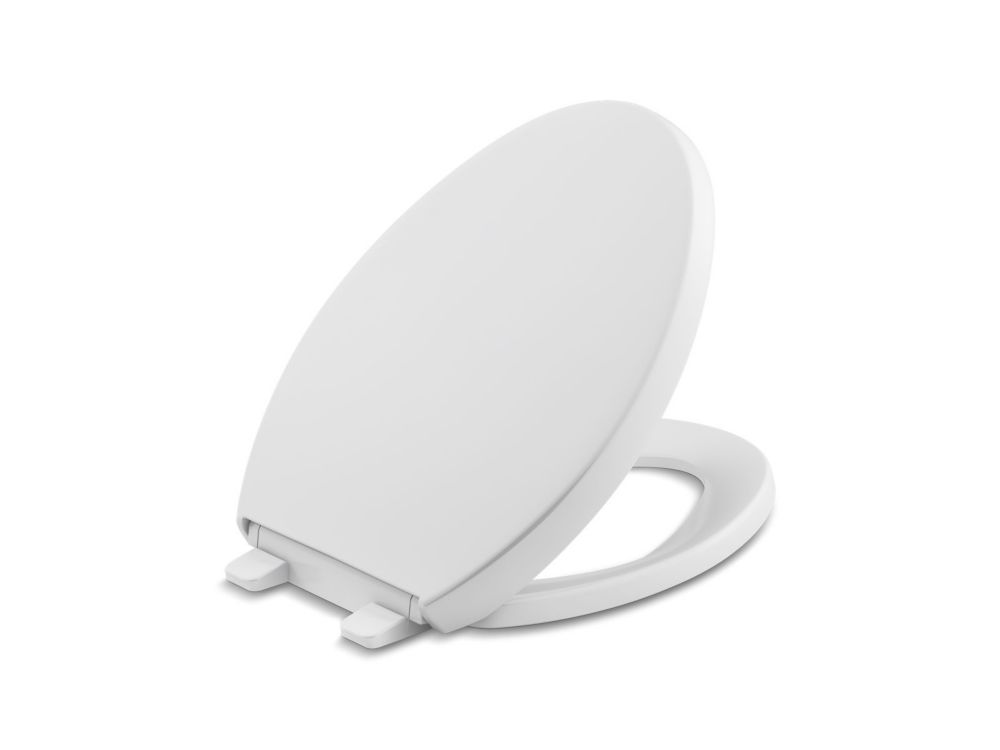 Reveal Quiet Close Elongated Closed Front Toilet Seat With Grip