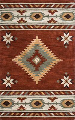 Awena Red 8 X 10 Rug Wool Area Rugs Tribal Area Rug Southwest Area Rugs