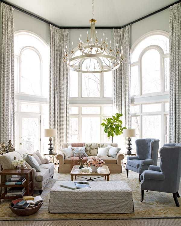 Tall Drapery Panels On Arch Top Windows. Book Review: HABITAT: The Field  Guide To Decorating By Lauren Liess   Linda Merrill