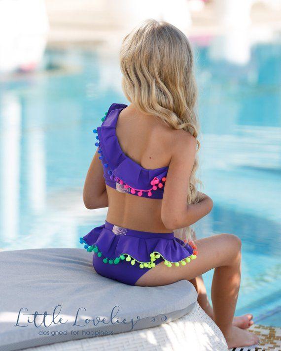 e51823a5a Purple swimsuit,infant swimwear,girls purple swimsuit,two pieces swimwear,girls  swimsuit,baby girl b