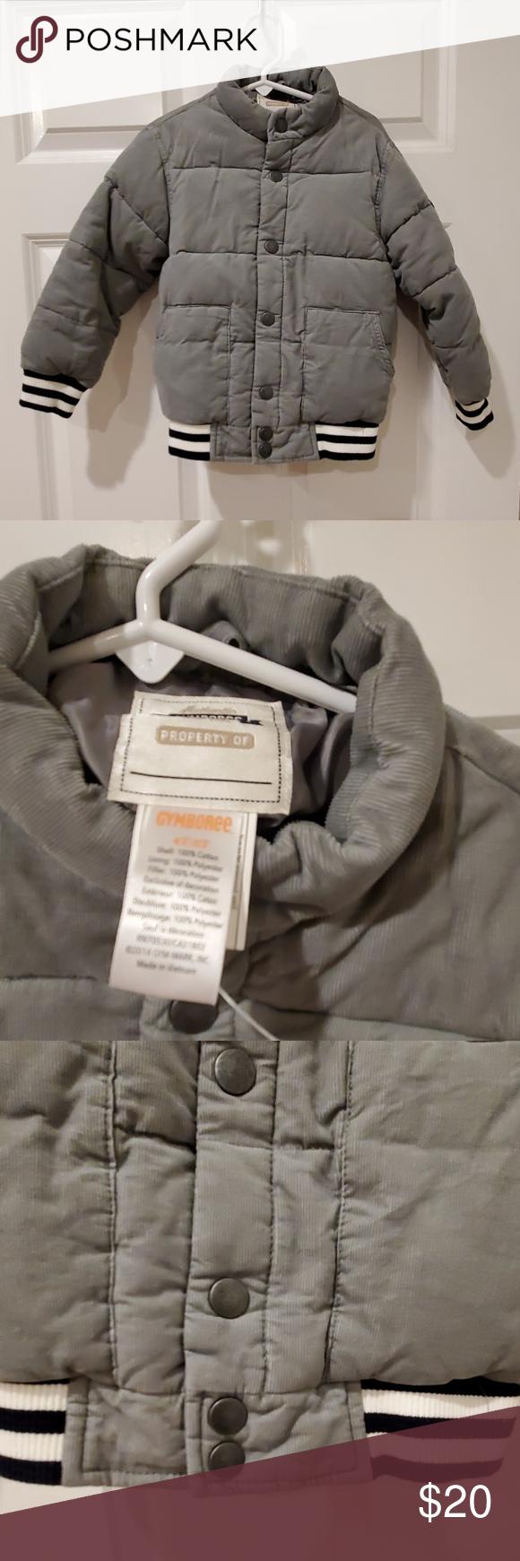 NWOT Boys Gymboree corduroy puffer coat 4T-5T | Boys ...