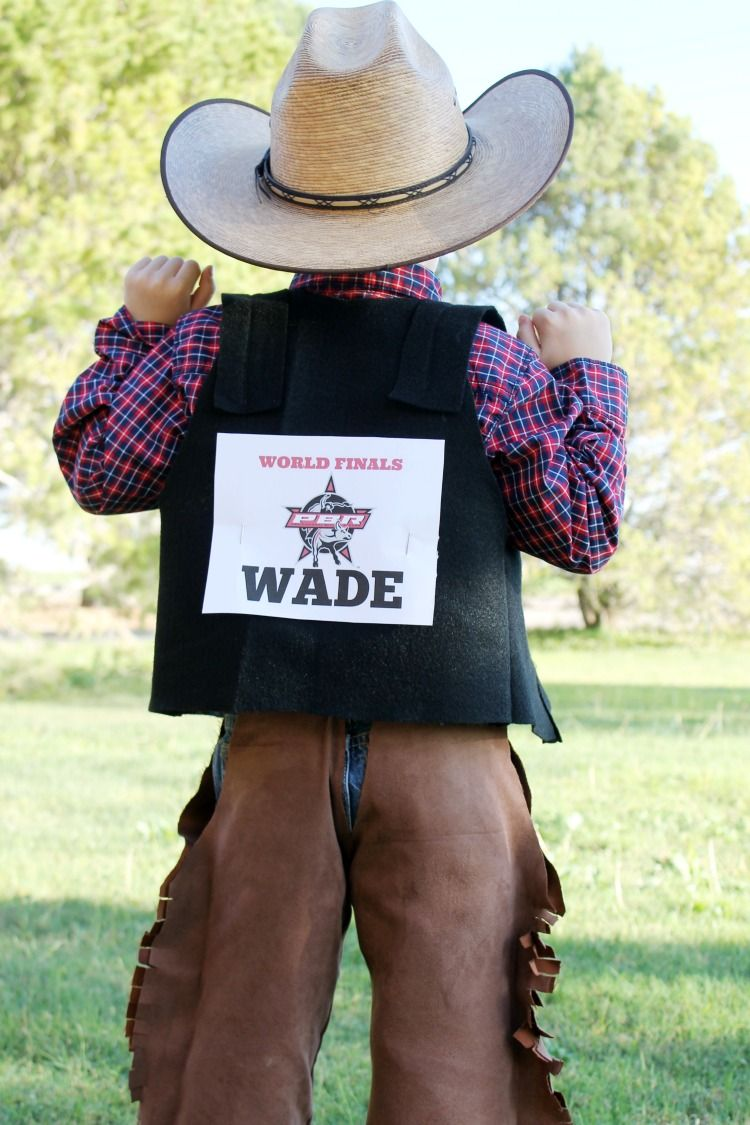 03e339326f8fc2 DIY Rodeo Cowboy Bull Rider Halloween Costume Idea: the Child at Heart blog