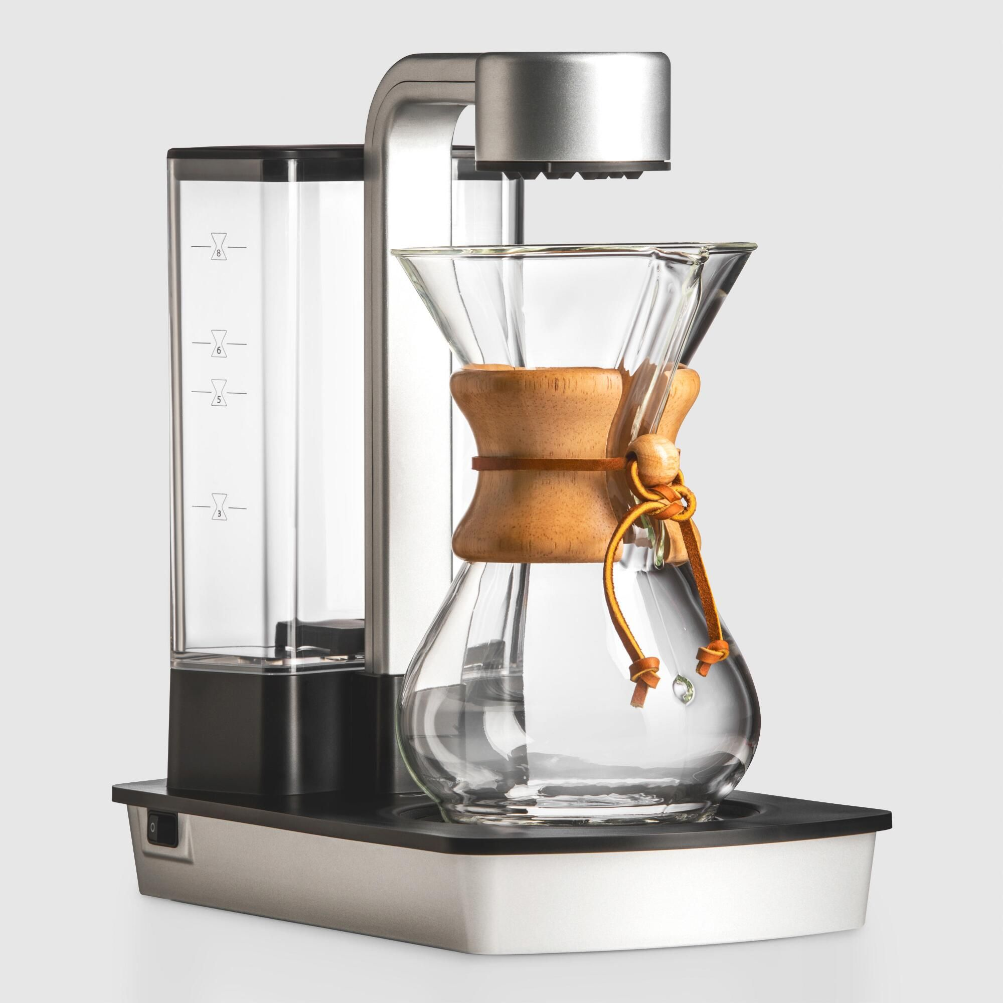 Chemex ottomatic 6 cup pour over coffee machine set with