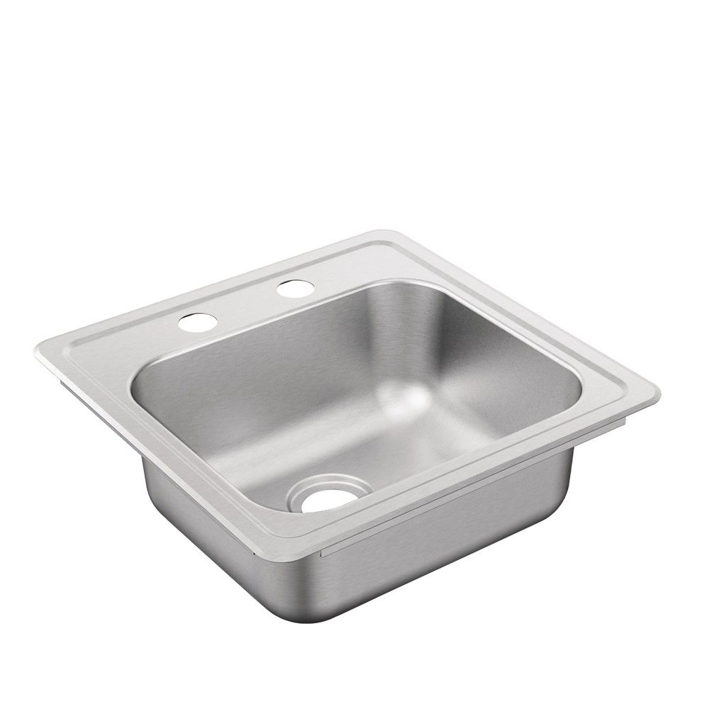 Stainless Steel Laundry Sink 25 X 22 With Faucet Cabinet By