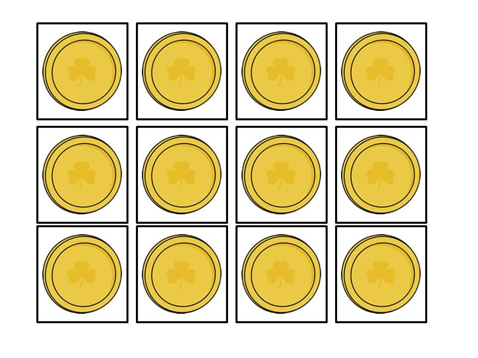 photograph about Gold Coin Template Printable named Pin by means of Crystal Lambert upon St. Patricks Working day Templates