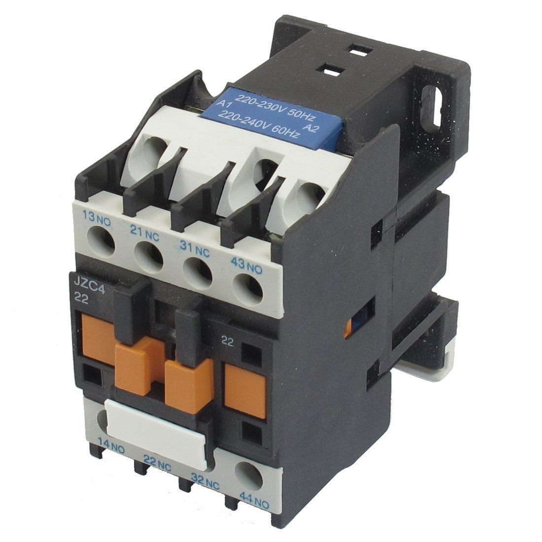 jzc4-22 220-240v 50/60hz coil 20a 2p three pole 2no 2nc ac contactor    electrical projects, power engineering, home electrical wiring  pinterest